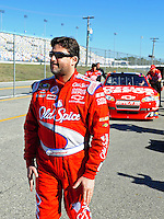 Feb 07, 2009; Daytona Beach, FL, USA; NASCAR Sprint Cup Series driver Tony Stewart during practice for the Daytona 500 at Daytona International Speedway. Mandatory Credit: Mark J. Rebilas-