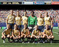 USA's starting 11 before a 2-0 victory over Brazil n East Rutherford, NJ, Saturday, June 23, 2007.