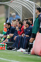 US Men's National Team bench, Honduras vs USA, March 19, 2005.