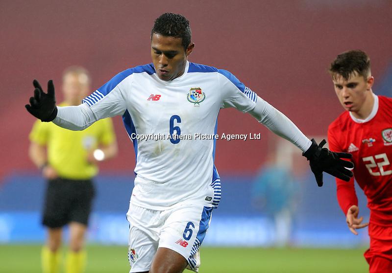 Manuel Vargas of Panama during the international friendly soccer match between Wales and Panama at Cardiff City Stadium, Cardiff, Wales, UK. Tuesday 14 November 2017.