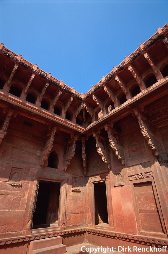 Indien, Uttar Pradesh, Agra, im roten Fort, Unesco-Weltkulturerbe