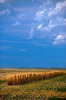Hay field and sky<br />