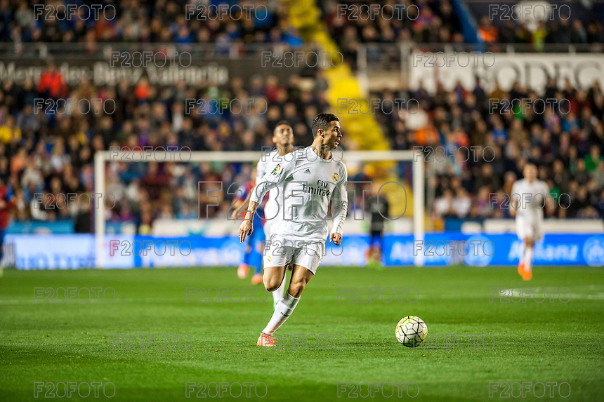 VALENCIA, SPAIN - MARCH 2: Ronaldo during BBVA League match between VLevante U.D. and R. Madrid at Ciudad de Valencia Stadium on March 2, 2015 in Valencia, Spain
