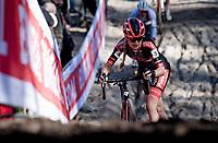 Denise Betsema (NED/Pauwels Sauzen - Bingoal) in the infamous Zonhoven 'Pit'<br /> <br /> Elite Women's Race<br /> 2021 UCI cyclo-cross World Cup - Zonhoven (BEL)<br /> <br /> ©kramon