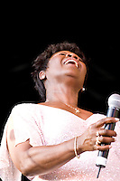 "Irma Thomas, the ""Soul Queen of New Orleans"", in New York City on August 12, 2006."