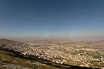 Samaria, a view of Mount Ebal and Balata as seen from Mount Gerizim