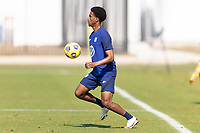 BRADENTON, FL - JANUARY 23: Kyle Duncan traps a ball during a training session at IMG Academy on January 23, 2021 in Bradenton, Florida.