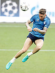 Real Madrid's Sergio Ramos during Champions League 2015/2016 training session. May 27,2016. (ALTERPHOTOS/Acero)