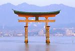 Asia, Japan, Hiroshima, Miyajima, Torii Gate