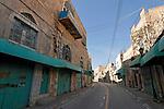 Judea, Hebron Mountain. Shuhada street in Hebron