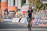 Adam Yates (GBR/Orica-Scott) rolling in over the finish line as 2nd<br /> <br /> 98th Milano - Torino 2017 (ITA) 186km