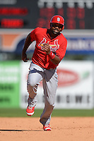 St. Louis Cardinals outfielder Joey Butler (56) during a spring training game against the Detroit Tigers on March 3, 2014 at Joker Marchant Stadium in Lakeland, Florida.  Detroit defeated St. Louis 8-5.  (Mike Janes/Four Seam Images)