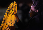 GREENSBORO, NC - NOVEMBER 3:   Nnamdia Gooding (cq Nnamdia) holds an NAACP sign during a Moral March to the Polls event sponsored by the North Carolina NAACP in Greensboro, NC, on Monday, November 3, 2014.  (Photo by Ted Richardson/For The Washington Post)