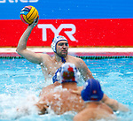 Ivan Nagaev  in action during game between Russia  against Slovakia  LEN European Water Polo Championships, Barcelona 16.07.2018