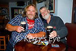 Enjoying a pint in Christy's Bar in Listowel on Monday, l to r: Ed Walsh and James Murphy.
