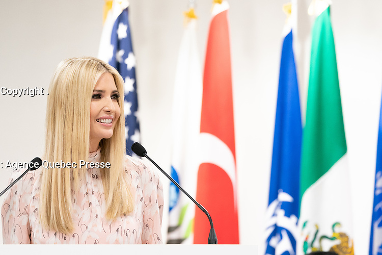 Advisor to the President Ivanka Trump addresses the G20 Women's Empowerment Event in Osaka, Japan, Saturday, June 29 2019. (Official White House Photo by Shealah Craighead)