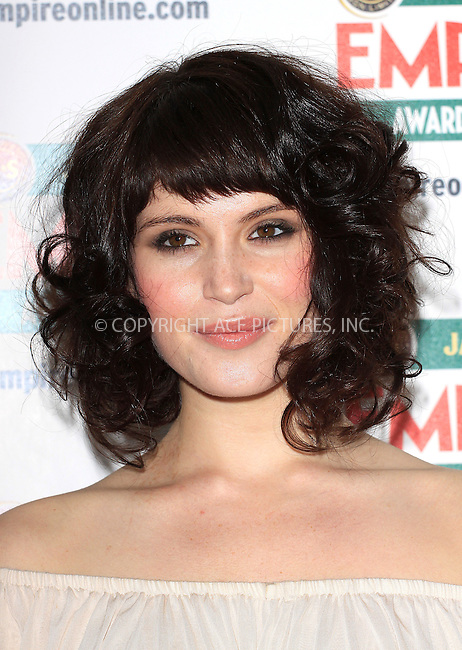ACEPIXS.Com.............US SALES ONLY.....March 29 2009, London..Actress Gemma Arterton at The Jameson Empire Film Awards 2009 at the Grosvenor House hotel on March 29 2009 in London ...Please by line:  Famous/ACEPIXS.com..ACE Pictures, Inc.tel: 212 243 8787 or 646 769 0430.Fax: 212 243 8718.Email: info@acepixs.com.www.acepixs.com.