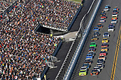 Monster Energy NASCAR Cup Series<br /> Daytona 500<br /> Daytona International Speedway, Daytona Beach, FL USA<br /> Sunday 18 February 2018<br /> Martin Truex Jr., Furniture Row Racing, Bass Pro Shops/5-hour ENERGY Toyota Camry and Ryan Blaney, Team Penske, Menards/Peak Ford Fusion<br /> World Copyright: Nigel Kinrade<br /> LAT Images