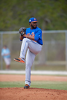New York Mets Pitcher Adonis Uceta (38) during a minor league Spring Training game against the Miami Marlins on March 26, 2017 at the Roger Dean Stadium Complex in Jupiter, Florida.  (Mike Janes/Four Seam Images)