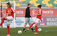 20190227 - LARNACA , CYPRUS : Austrian Nina Burger pictured during a women's soccer game between the Super Falcons of Nigeria and Austria , on Wednesday 27 February 2019 at the AEK Arena in Larnaca , Cyprus . This is the first game in group C for both teams during the Cyprus Womens Cup 2019 , a prestigious women soccer tournament as a preparation on the Uefa Women's Euro 2021 qualification duels. PHOTO SPORTPIX.BE | DAVID CATRY