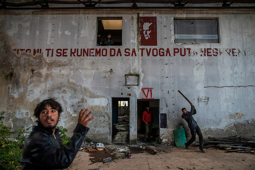 Migrants, cornered in Bosnia