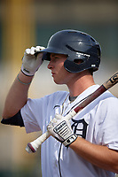 Detroit Tigers Colt Keith (4) on deck during a Florida Instructional League game against the Pittsburgh Pirates on October 16, 2020 at Joker Marchant Stadium in Lakeland, Florida.  (Mike Janes/Four Seam Images)
