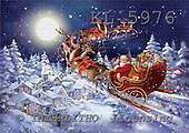 Interlitho, CHRISTMAS SANTA, SNOWMAN, paintings,+Santa,++++,moon,village,santa,KL5976,#X# Weihnachtsmänner, Papá Noel, Weihnachten, Navidad, illustrations, pinturas klassisch, clásico ,Simonetta,itdp