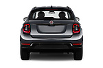 Straight rear view of 2019 Fiat 500X Cross-S-Design 5 Door SUV Rear View  stock images