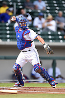 Mesa Solar Sox catcher Sean Ochinko (11) during an Arizona Fall League game against the Surprise Saguaros on October 17, 2014 at Cubs Park in Mesa, Arizona.  Mesa defeated Mesa 5-3.  (Mike Janes/Four Seam Images)