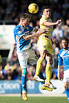 St Johnstone v Hearts…17.09.16.. McDiarmid Park  SPFL<br />Steven MacLean and Don Cowie<br />Picture by Graeme Hart.<br />Copyright Perthshire Picture Agency<br />Tel: 01738 623350  Mobile: 07990 594431
