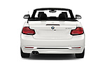 Straight rear view of a 2019 BMW 2 Series 230i Sport Line 2 Door Convertible stock images