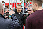 © Joel Goodman - 07973 332324 . 25/04/2015 . Salford , UK . Phil Neville poses for pictures . Evostick League champions , Salford FC , play Osset Town , in Salford . Photo credit : Joel Goodman