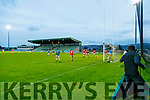 Action during the Kerry County Senior Football Championship Semi-Final match between East Kerry and St Brendan's at Austin Stack Park in Tralee, Kerry.