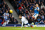 Martyn Waghorn can't control the ball with the goal gaping