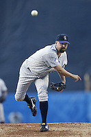 Rick White of the Colorado Rockies pitches during a 2002 MLB season game against the Los Angeles Dodgers at Dodger Stadium, in Los Angeles, California. (Larry Goren/Four Seam Images)