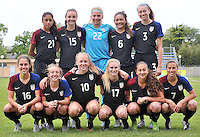 Monfalcone, Italy, April 26, 2016.<br /> USA first eleven players ahead of USA v Iran football match at Gradisca Tournament of Nations (women's tournament). Monfalcone's stadium.<br /> © ph Simone Ferraro / Isiphotos