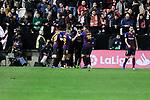 FC Barcelona's players celebrates goal during La Liga match between Rayo Vallecano and FC Barcelona at Vallecas Stadium in Madrid, Spain. November 03, 2018. (ALTERPHOTOS/A. Perez Meca)