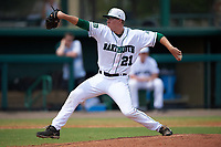 Dartmouth Big Green relief pitcher Marc Bachman (21) delivers a pitch during a game against the South Florida Bulls on March 27, 2016 at USF Baseball Stadium in Tampa, Florida.  South Florida defeated Dartmouth 4-0.  (Mike Janes/Four Seam Images)