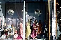 Canada, Ontario, Toronto, Queen Street West,  women mannequins in window display