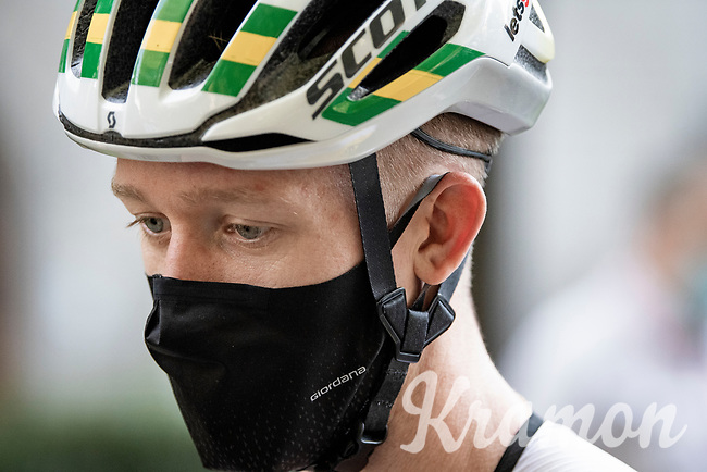 Australian National Champion Cameron Meyer (AUS/Mitchelton-Scott)<br /> <br /> 'La Primavera' (Spring) in summer!<br /> 111st Milano-Sanremo 2020 (1.UWT)<br /> 1 day race from Milano to Sanremo (305km)<br /> <br /> the postponed edition > exceptionally held in summer because of the Covid-19 pandemic calendar reshuffle