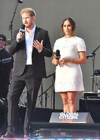 NEW YORK, NY- SEPTEMBER 25: Prince Harry and Meghan Markle at the 2021 Global Citizen Live Festival at the Great Lawn in Central Park, New York City on September 25, 2021. Credit: John Palmer/MediaPunch