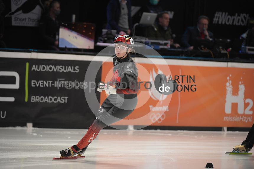 SPEEDSKATING: DORDRECHT: 06-03-2021, ISU World Short Track Speedskating Championships, SF 1500m Ladies, Courtney Sarault (CAN), ©photo Martin de Jong