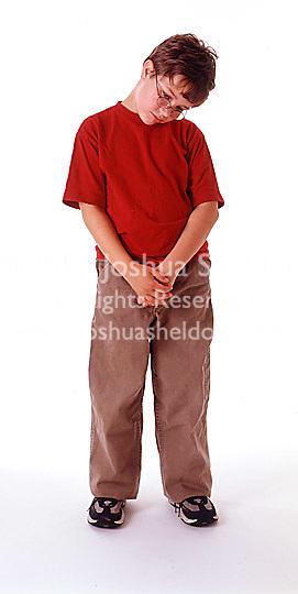 Boy looking depressed