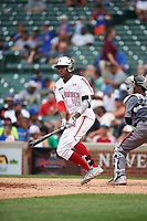 Jordon Adell (45) of Ballard High School in Prospect, Kentucky during the Under Armour All-American Game presented by Baseball Factory on July 23, 2016 at Wrigley Field in Chicago, Illinois.  (Mike Janes/Four Seam Images)