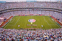 The United States and Argentina line up for introductions prior to the start of the game. The men's national teams of the United States and Argentina played to a 0-0 tie during an international friendly at Giants Stadium in East Rutherford, NJ, on June 8, 2008.
