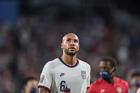 NASHVILLE, TN - SEPTEMBER 5: John Brooks #6 of the United States during a game between Canada and USMNT at Nissan Stadium on September 5, 2021 in Nashville, Tennessee.