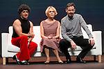 Felix Navarro (R), Antonia San Juan (C) and Luis Miguel Segui during `Lo malo de ser perfecto´ theater play representation in Madrid, Spain. October 05, 2015.<br /> (ALTERPHOTOS/BorjaB.Hojas)