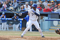 Asheville Tourists right fielder Raimel Tapia #15 awaits a pitch during a game against the  Delmarva Shorebirds at McCormick Field on April 6, 2014 in Asheville, North Carolina. The Shorebirds defeated the Tourists 4-2. (Tony Farlow/Four Seam Images)