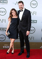 HOLLYWOOD, LOS ANGELES, CA, USA - JUNE 05: Kathryn Hahn, Ethan Sandler at the 42nd AFI Life Achievement Award Honoring Jane Fonda held at the Dolby Theatre on June 5, 2014 in Hollywood, Los Angeles, California, United States. (Photo by Xavier Collin/Celebrity Monitor)