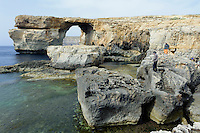 Azure Window in der Dwejra Bay auf Gozo, Malta, Europa